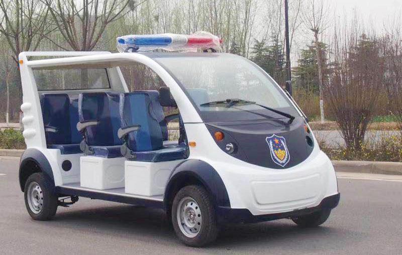 Six Semi-closed Electric Patrol Vehicles Auto Body Parts