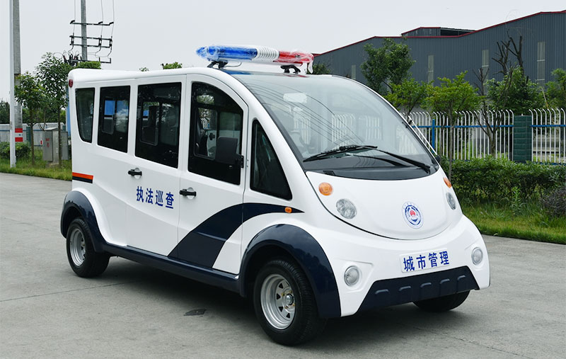 Six Closed Electric Patrol Vehicles Auto Body Parts